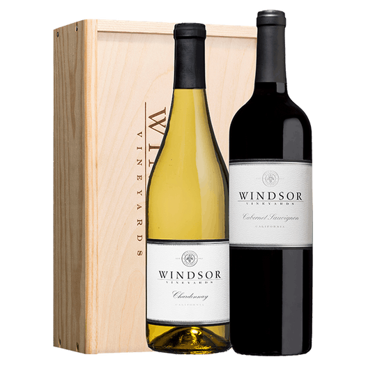 Windsor Classic Executive 2-Bottle Gift Set Wood