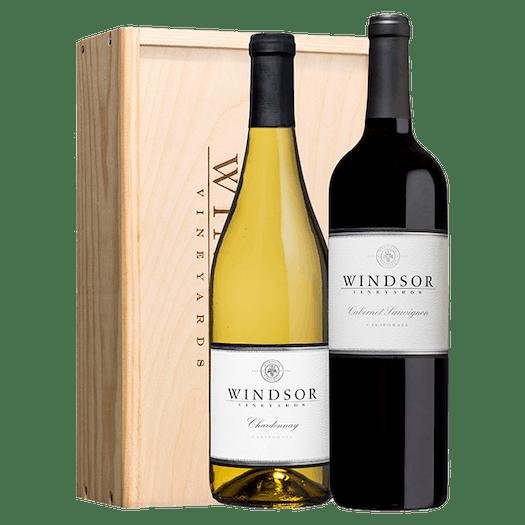 Windsor Classic Executive 2-Bottle Gift Set Wood