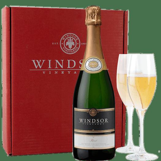 Windsor Brut and Flutes Gift Set - Red Box