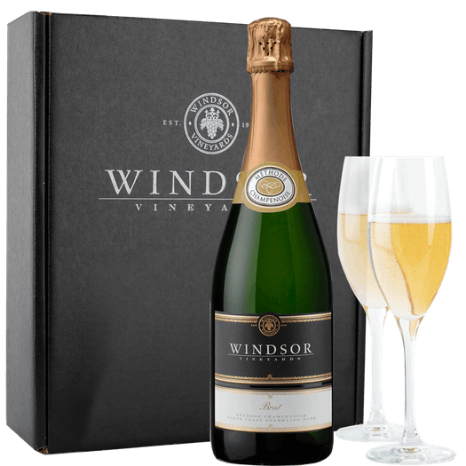 Windsor Brut and Flutes Gift Set - Black Box