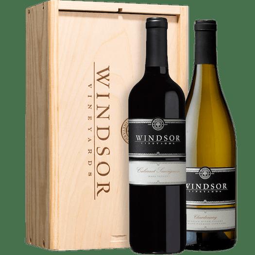 Windsor Platinum Executive 2-Bottle Gift Set - Wood Box