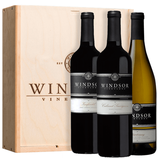 Windsor Platinum Trio 3-Bottle Gift Set - Wood Box
