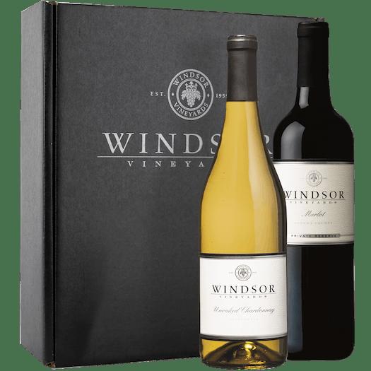 Windsor Winemaker's Choice Mixed 2-Bottle Gift Set - Black Box