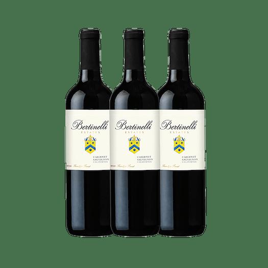 Bertinelli Estates Wine Set 3-Bottle Cabernet Sauvignon