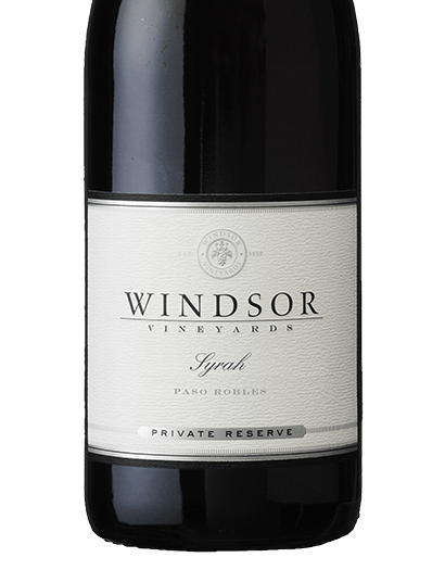 2016 Windsor Syrah, Paso Robles, Private Reserve, 750ml