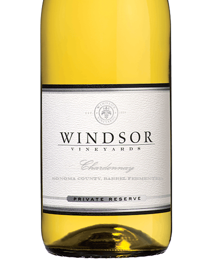 2017 Windsor Chardonnay, Sonoma County, Barrel Fermented, Private Reserve, 750ml