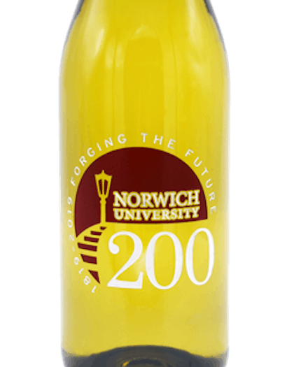 2016 Norwich University Chardonnay, Sonoma County, Barrel Fermented, Private Reserve, 750ml (Etched)